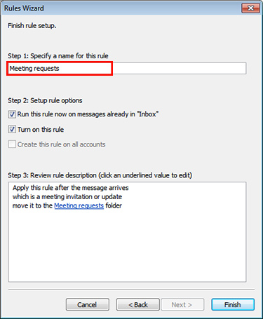 Outlook 2013 win creating a rule for meeting requests select stopboris Images