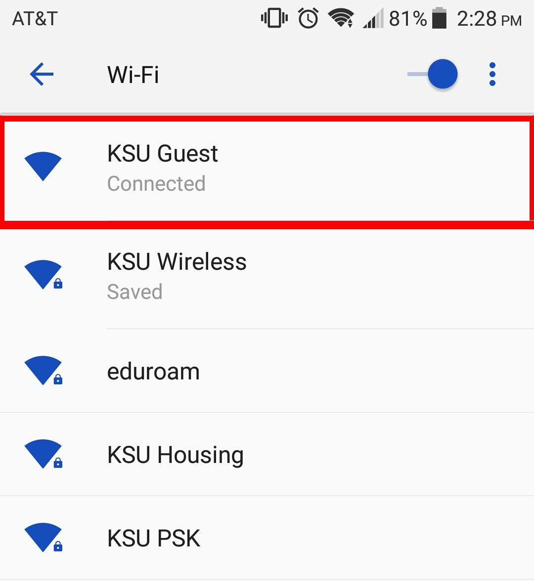 Knowledge - Forget a wireless network connection