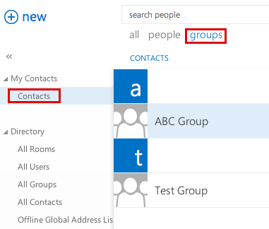 Knowledge - Outlook Web App: Creating contact groups