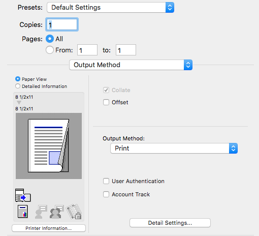 Knowledge - Print using a copy code in Mac OS