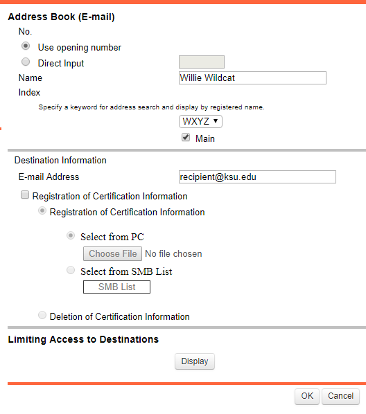 Knowledge Adding An Email Address To The Copier Address Book