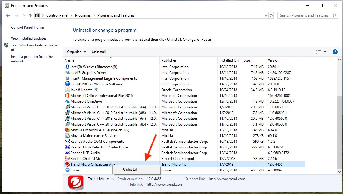 Knowledge - Uninstall Trend Micro OfficeScan for Windows