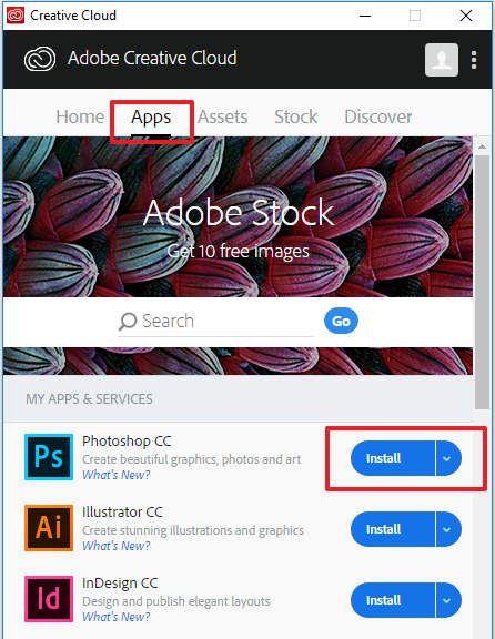 Knowledge - Installing Adobe Creative Cloud Suite using a named license